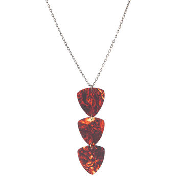 Guitar pick triple pendant
