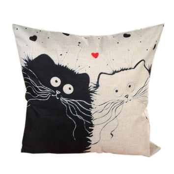 Cat Pillow Case Decorative Cushion Covers Pillowcases