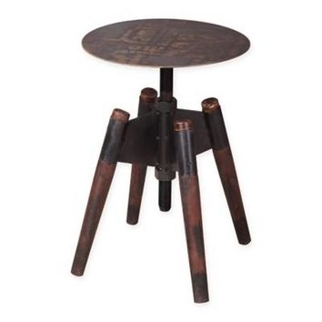Moe's Home Collection Hetfield Adjustable Stool in Dark Brown