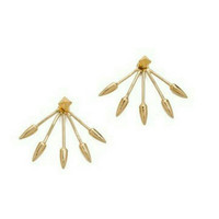 Spike Ear Jacket Earrings - Gold Ear Jackets - Stud Earrings - PREORDER