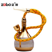 Luxury Two-site Hookah Dual-use Water Smoking Pipe Shisha Free Tobacco Cigarette Holder For Healthy Gifts