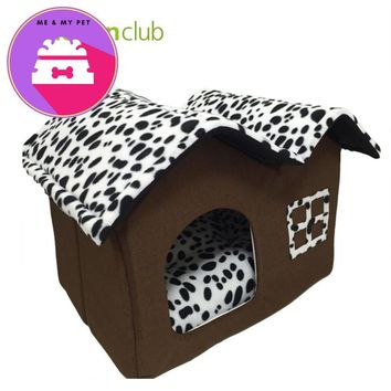 Cotton Folding Dog Bed  House With Mat