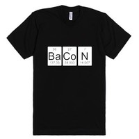 Funny T-Shirts Bacon Chemistry-Unisex Black T-Shirt
