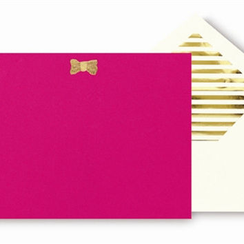 kate spade new yorkCorrespondence Cards - Gold Bow