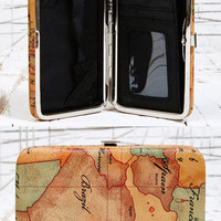 Globe Print Phone Clutch at Urban Outfitters