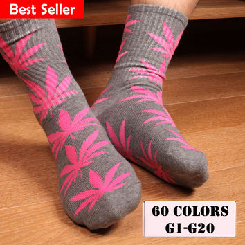 20 Colors Available Now! Weed men Leaf Printed basketball Skateboard Cotton 4:20 Ganja Socks