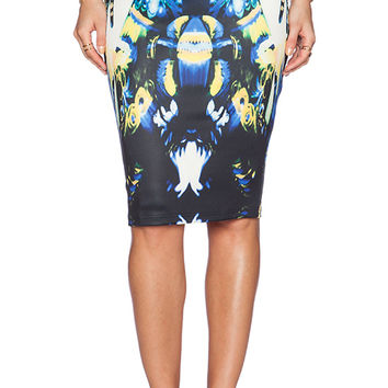 Ringuet Desire Midi Skirt in Blue