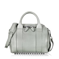 Alexander Wang Designer Handbags Rockie Pebbled Leather Satchel w/Rhodium Studs