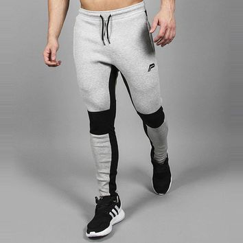 EU Running Pants Men High Quality Training Pants Men's Fitness Bodybuilding Jogger Gym Pants Workout Jogging Homme Sport Pant