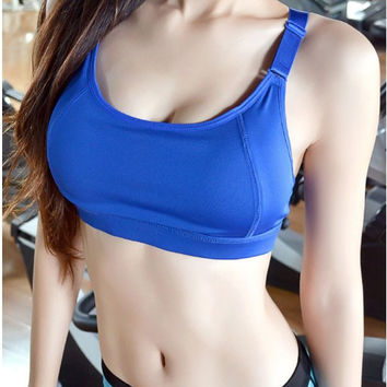 Korean Shockproof With Steel Wire Adjustable Yoga Sports Bra [10195892620]