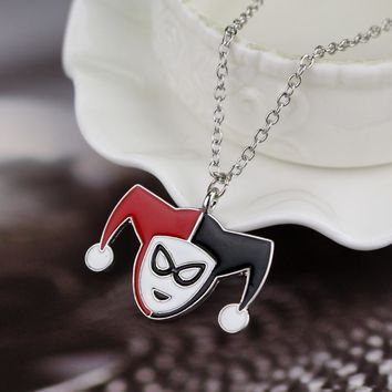 Suicide Squad Harley Quinn Necklace DC Comics Movie Jewelry Chain Pendant Necklace