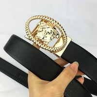 Versace 2019 new men's high-end versatile smooth buckle belt