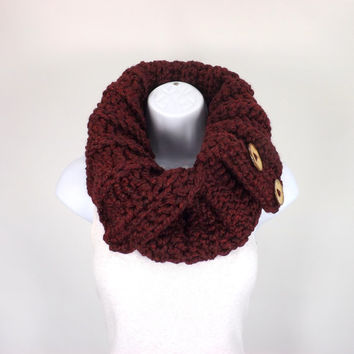 Chunky Cowl // The Turin // in Claret