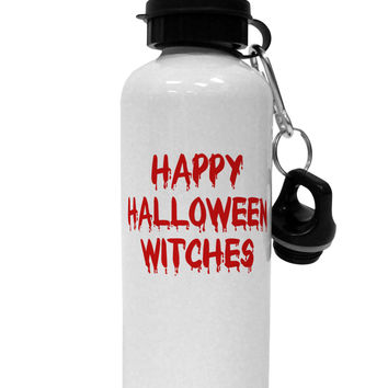 Happy Halloween Witches Blood Red Aluminum 600ml Water Bottle