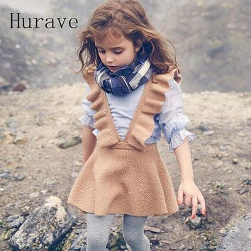 Autumn  girls dress girl clothing Knit Sweater Kids for girl robe  kids clothing beautiful