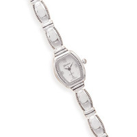 "7""+.5""Extension Polished and Oxidized Bead Edge Fashion Watch"