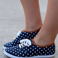 Polkaing About Sneakers: Navy