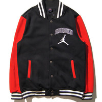 On Sale Hot Deal Sports Tops Jacket Winter Hoodies Cotton Patchwork Baseball [9302715335]