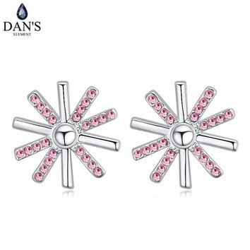 DAN'S 5 Colors Real Austrian crystals Stud earrings for women    Earrings s New Sale Hot  Round 120700