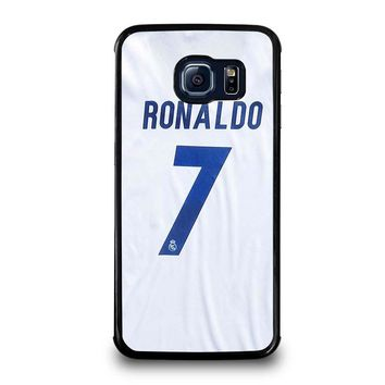 RONALDO CR7 JERSEY REAL MADRID Samsung Galaxy S6 Edge Case Cover