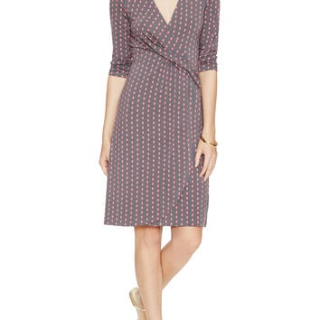 Escada Women's Eudoxie Printed Wrap Dress - Dark Grey -