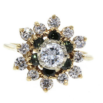 Vintage 1+ CWT Old Mine Cut Diamond and 14K Gold Ring