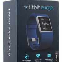 Fitbit Surge Fitness Watch GPS, Heart Rate Monitor Black-blue-Large-Small fb501