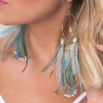 Cory Feather Earrings (Gold)