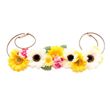 Snapchat Flower Crown, Flower Headband, Snapchat Filter, Snapchat Costume, Coachella, Electric Daisy Carnival, Fun Fun Fun Fest, EZoo, PLUR