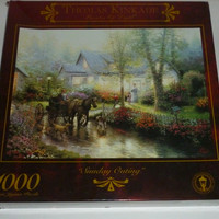 Thomas Kinkade Sunday Outing 1000 Piece Jigsaw Puzzle