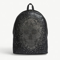 ALEXANDER MCQUEEN Stud skull grained leather backpack