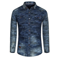 Digital Camo Denim Shirt
