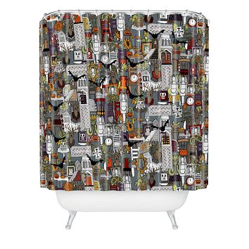 Sharon Turner Halloween Supper XIII Shower Curtain