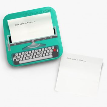 Typewriter Shaped Sticky Notes in Turquoise