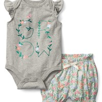 Floral Bodysuit and Shorts Set|gap