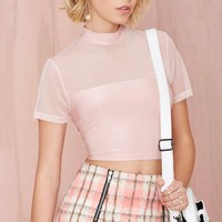 Nasty Gal Play the Field Top - Blush