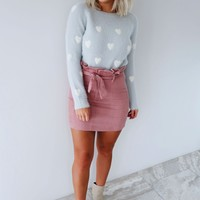 Bless Your Heart Sweater: Grey/Ivory