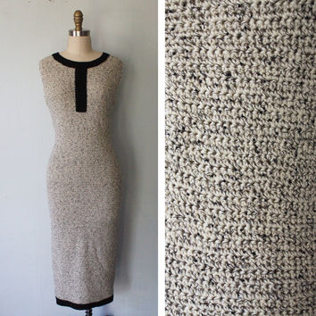Knit Wiggle Dress Small 1960s Vintage by FancyThatVintage on Etsy