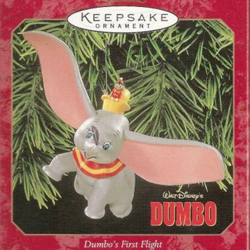 Licensed cool Disney HALLMARK DUMBO'S FIRST FLIGHT ELEPHANT Christmas Keepsake Ornament NEW