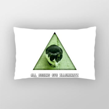 All Seeing Eye Illuminati Cat Pillow Cover | Artist : Nitin Kapoor