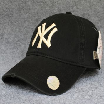 Black NY Cotton Baseball Cap