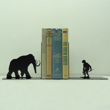 Prehistoric Metal Art Bookends - Free USA Shipping