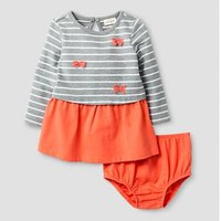 Baby Girls' Stripe Bow Dress Cat & Jack™ - Coral