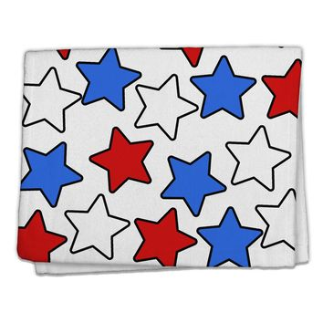 "Red White And Blue Stars 11""x18"" Dish Fingertip Towel by TooLoud"