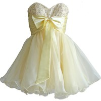 Faironly Xm3 Yellow Short Girl's Homecoming Dress