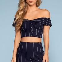 Sail On Stripe High Waisted Shorts