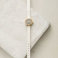 Lark Granby Stripe Watch in Black & White Size: One Size Watches