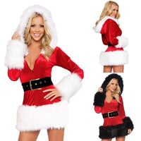 Hot Women Santa Claus Father Christmas Fancy Dress Suit Costume Xmas Outfit  F_F = 1902424324