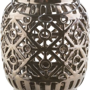 Killian Contemporary Lantern Black, Olive