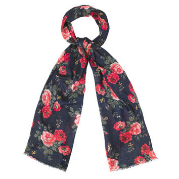 ANTIQUE ROSE WOVEN SCARF